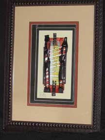 Framed African Art - Carved African Ethnic Male & Female Figures