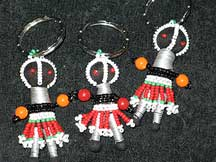 Handbeaded African Zulu Ndebele Mini Dolls - Set #5