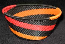Small African Zulu Telephone Wire Basket/Bowl - Halloween Treat