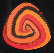 African Zulu Telephone Wire Basket Triangle Plate - Trick or Treat