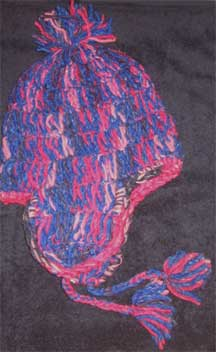 "Handmade Andean ""Crazy Fun"" Wool Knit Cap/Hat - Chile - Blues/Pinks"