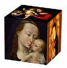 Madonna and Child Museum Art Cube