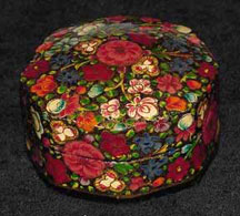 Small Eight Sided Papier Mache Box