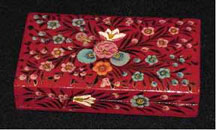 Long Red Papier  Mache Box