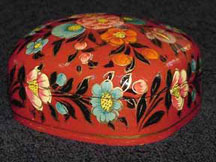 Small Red Papier Mache Box