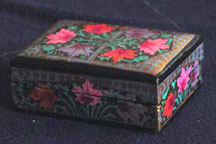 Small Gold Papier Mache Box